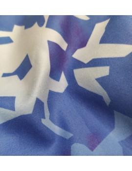 Полотенце-пончо Blue Camo с капюшоном из микрофибры