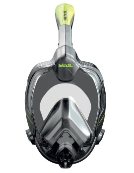 Полнолицевая маска для сноркелинга Seac Libera Lime